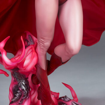 Scarlet Witch Premium Format Figure close up on base right side quarter