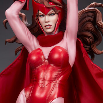 Scarlet Witch Premium Format Figure close up on upper body