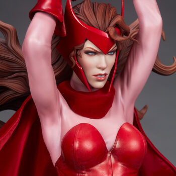 Scarlet Witch Premium Format Figure right quarter view close up on face