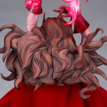 Scarlet Witch Premium Format Figure close up on back of base