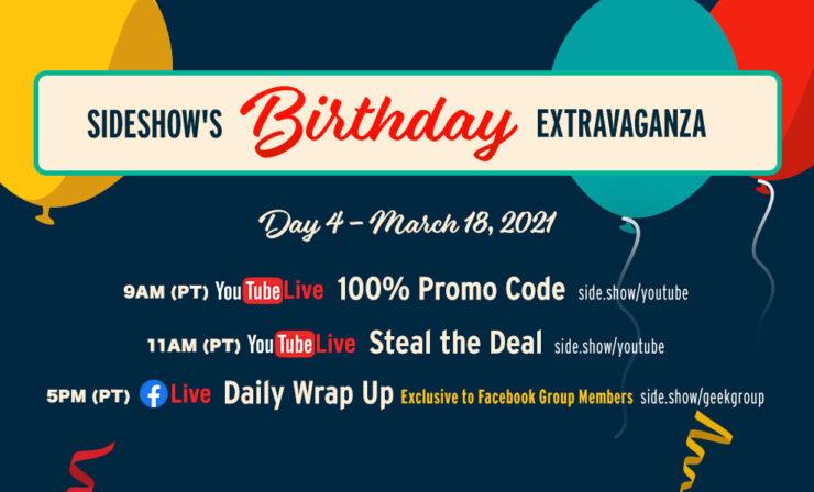 Thursday, March 18 Birthday Extravaganza Schedule