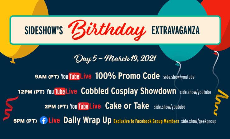 Sideshow Birthday Day 5 Schedule