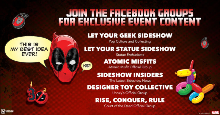 Join the Sideshow Facebook Groups