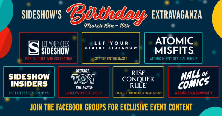 Join the Sideshow Facebook Groups for exclusive content