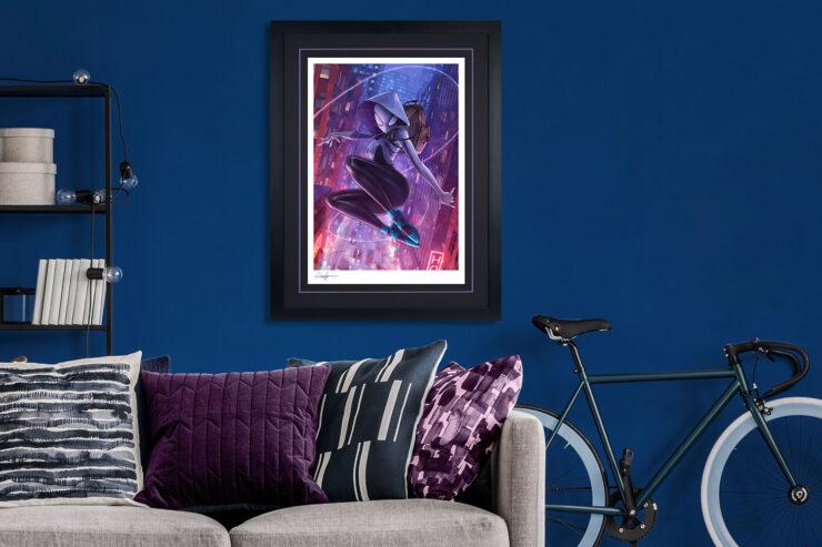 Spider-Gwen Fine Art Print by Artist Jeehyung Lee Black Frame