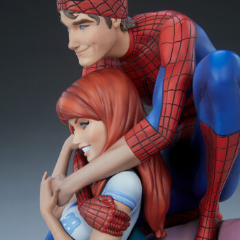 Left side close up on the Spider-Man and Mary Jane Maquette