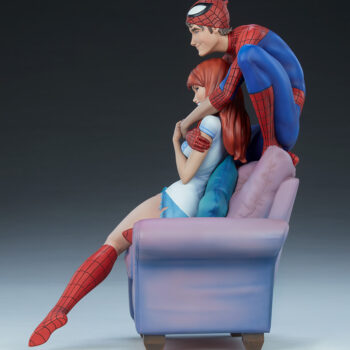 full left side view of Spider-Man and Mary Jane Maquette
