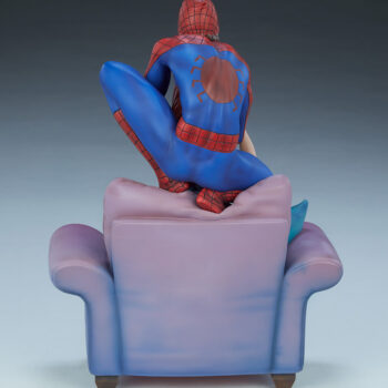 full back view of Spider-Man and Mary Jane Maquette