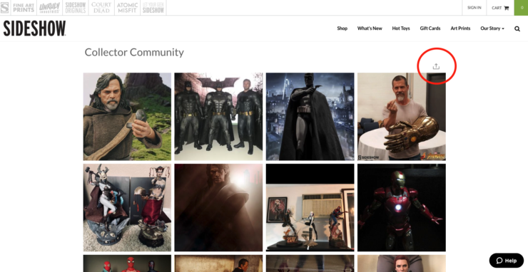 Sideshow's Collector Community