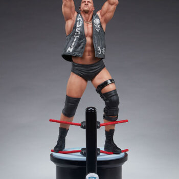 Full Figure Front View of Stone Cold Steve Austin Quarter Scale Statue