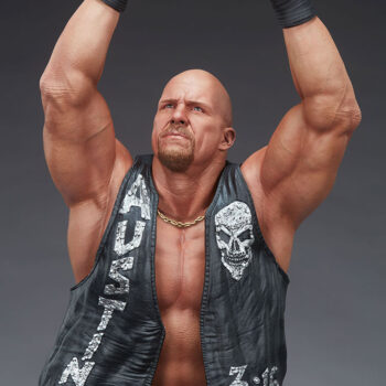Look down at the Stone Cold Steve Austin Quarter Scale Statue