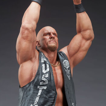 Look down at right quarter view of Stone Cold Steve Austin Quarter Scale Statue