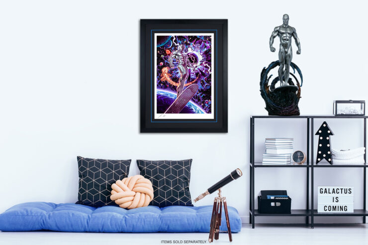 The Heralds of Galactus Fine Art Print by Artist John Keaveney Black Frame Marvel Collectibles