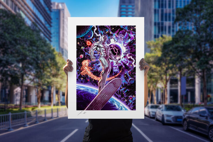 The Heralds of Galactus Fine Art Print by Artist John Keaveney