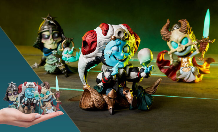 Final Product Photos of The Kier, Relic Ravlatch, and Malavestros Court-Toons Collectible Statue Set
