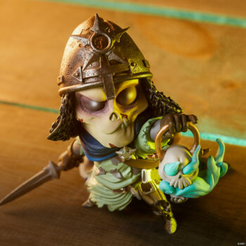 Looking down at the Relic Court-Toons Collectible Statue