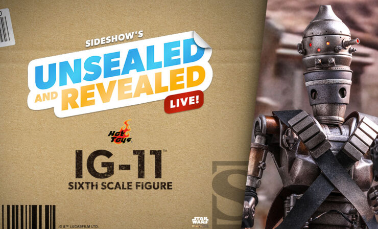 Unsealed and Revealed on March 4, 2021 features the IG-11 Sixth Scale Figure by Hot Toys