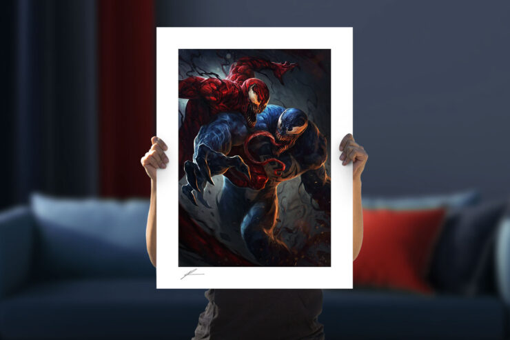 Venom vs Carnage Fine Art Print by Artist Richard Luong