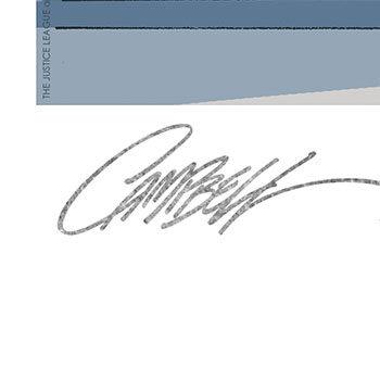 Wonder Woman #750 B- Hall of Justice Fine Art Print by J. Scott Campbell Black Frame Signature