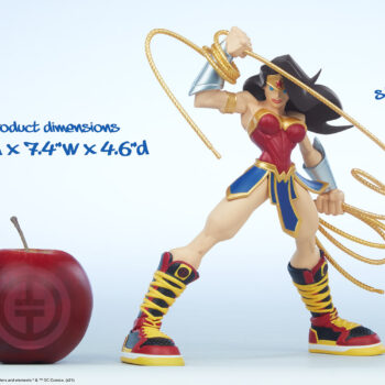 Wonder Woman Designer Collectible Toyby Artist Tracy Tubera apple size comparison