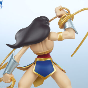 Wonder Woman Designer Collectible Toyby Artist Tracy Tubera upper body close up view