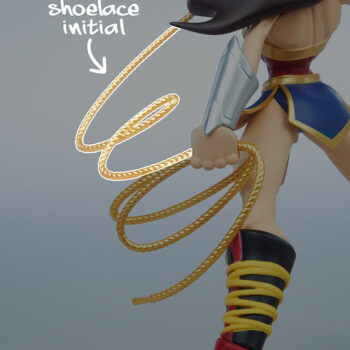 Wonder Woman Designer Collectible Toyby Artist Tracy Tubera Wonder Woman Initials in Lasso of Truth