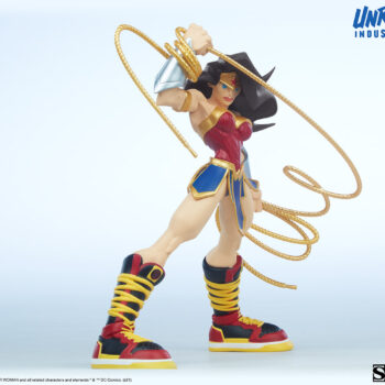 Wonder Woman Designer Collectible Toyby Artist Tracy Tubera 3/4th's right full view