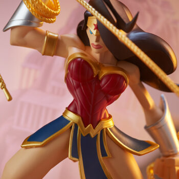 Wonder Woman Designer Collectible Toyby Artist Tracy Tubera Close Up on Lasso of Truth Looking Down