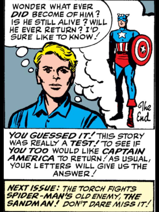 Marvel asks fans if they want to see more Captain America