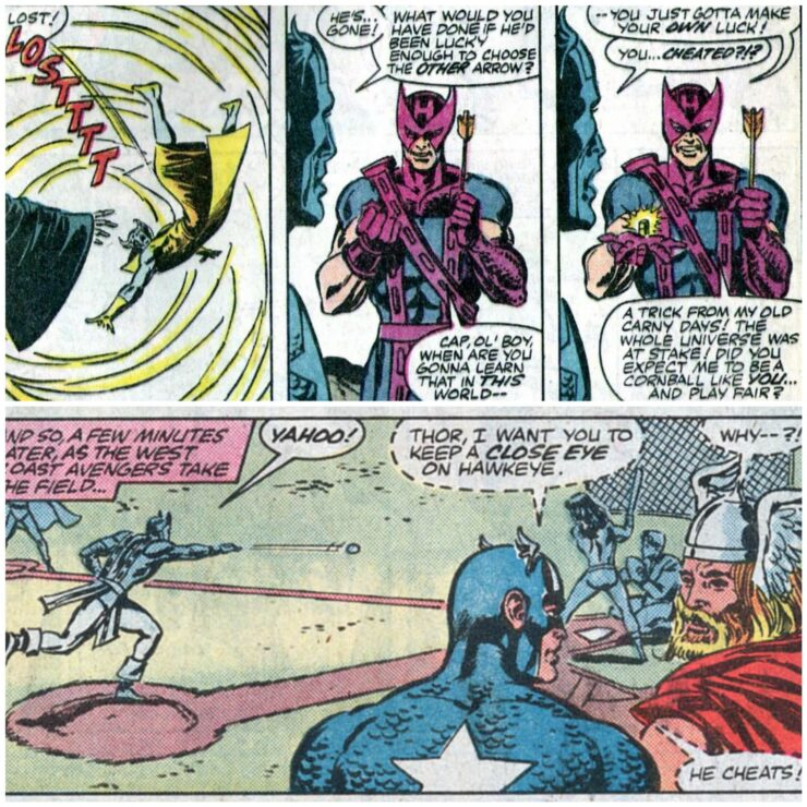 Avengers Annual #16- Captain America Catches Hawkeye Cheating