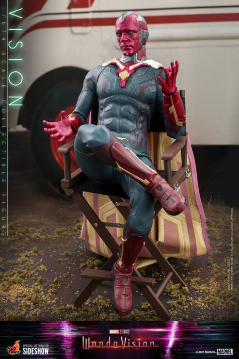 Vision Sixth Scale Figure by Hot Toys- in Chair