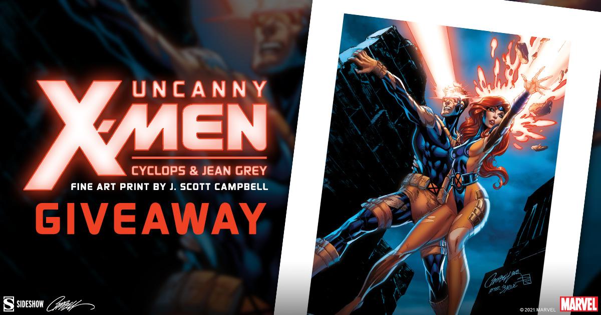 Uncanny X-Men: Cyclops & Jean Grey Fine Art Print Giveaway