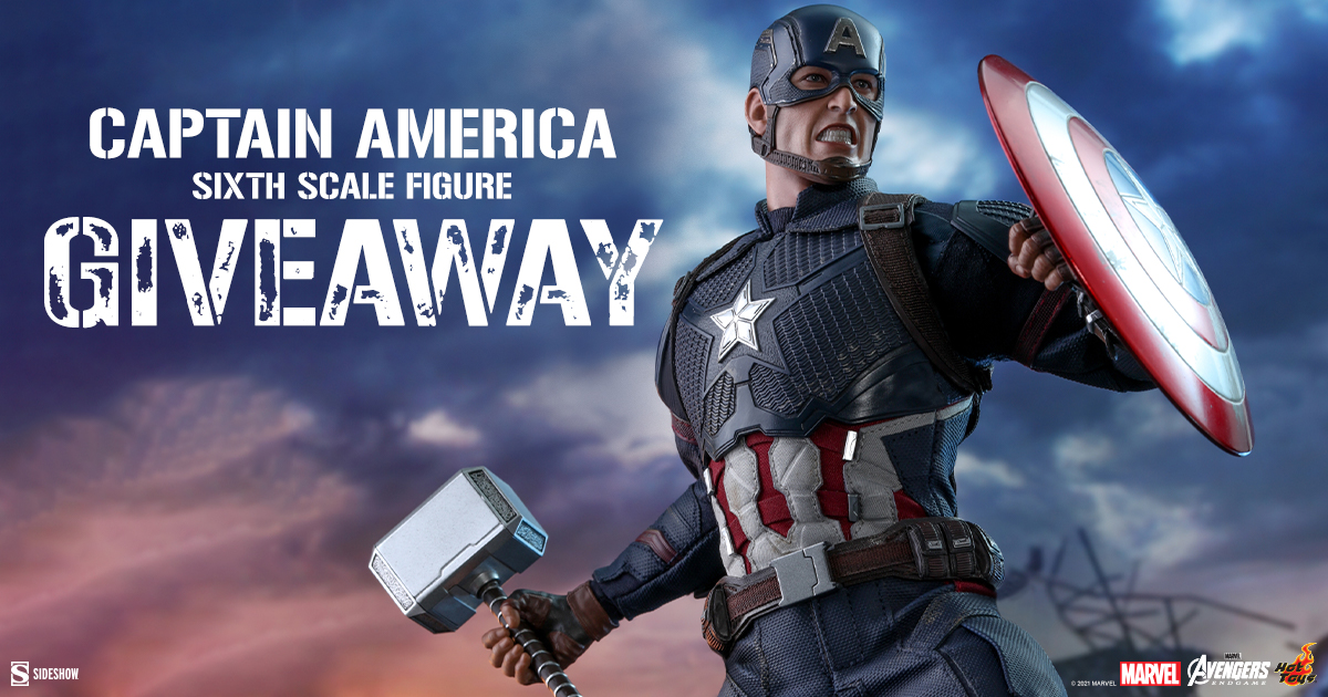 Captain America Sixth Scale Figure Newsletter Giveaway