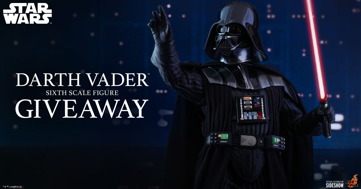 Darth Vader Sixth Scale Figure Newsletter Giveaway
