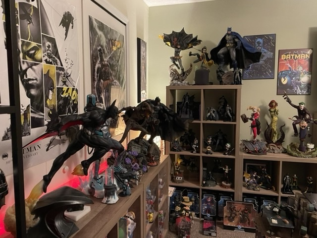 Collection of DC Comics Statues