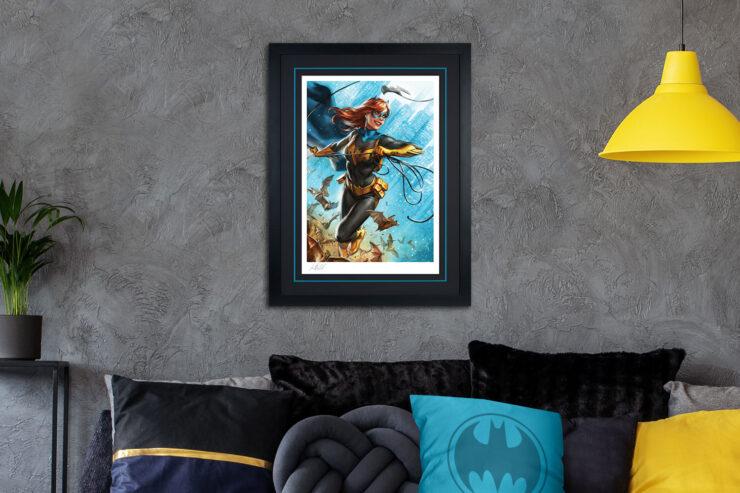 Batgirl The Last Joke Fine Art Print by Artist Ian MacDonald Black Frame