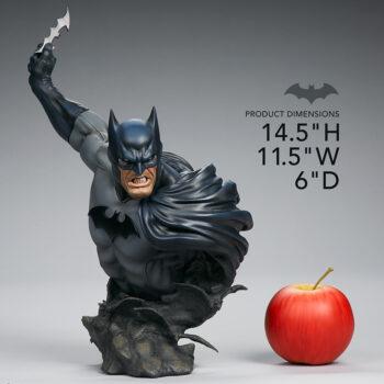 apple size comparison of Batman Bust