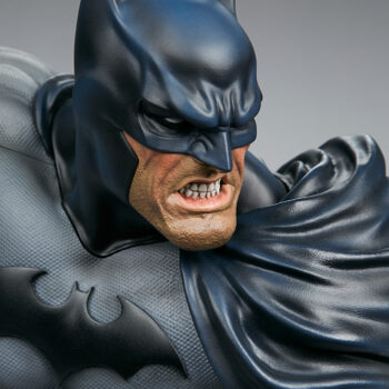 close up on face of Batman Bust