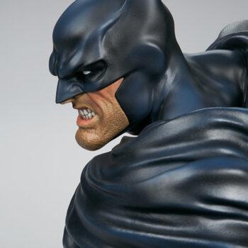 left side face close up on Batman Bust