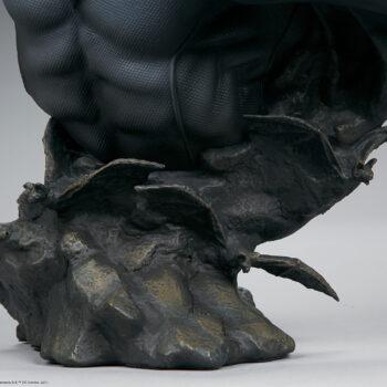 Close up on base of Batman Bust
