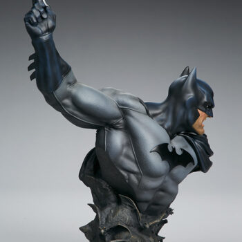 full right back side view of Batman Bust