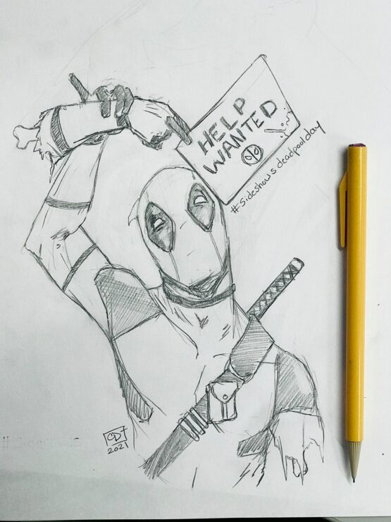 Corbin Michael Delaney Deadpool drawing