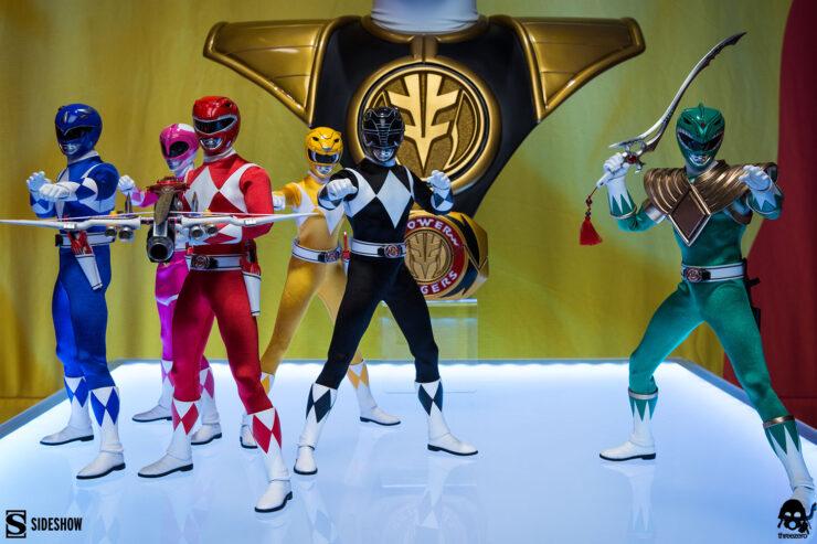 Core Rangers + Green Ranger Six Pack Collectible Set Threezero 1