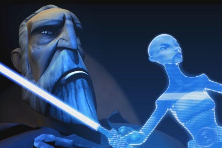Count Dooku and Asajj Ventress hologram
