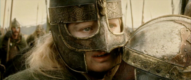 Eowyn Quote- Courage, Merry...