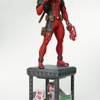 right side quarter view of Deadpool Third Scale Statue