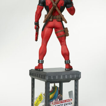 back side full view of Deadpool Third Scale Statue