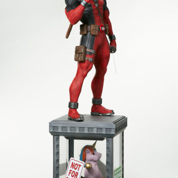 right side quarter full view of Deadpool Third Scale Statue