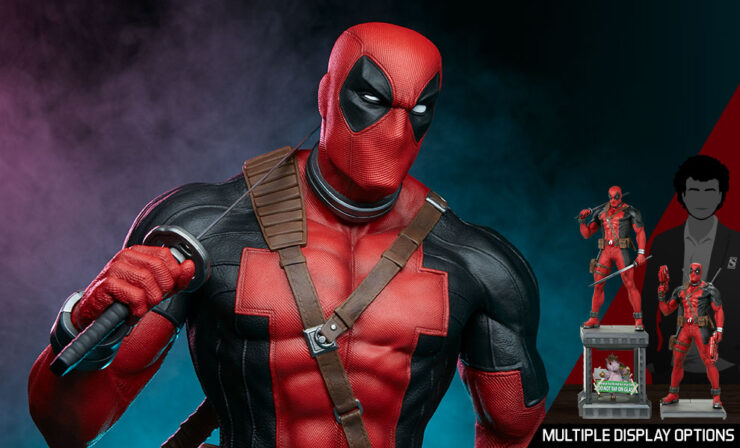 Deadpool Third Scale Statue Feature