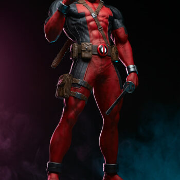 Deadpool Third Scale Statue with swords